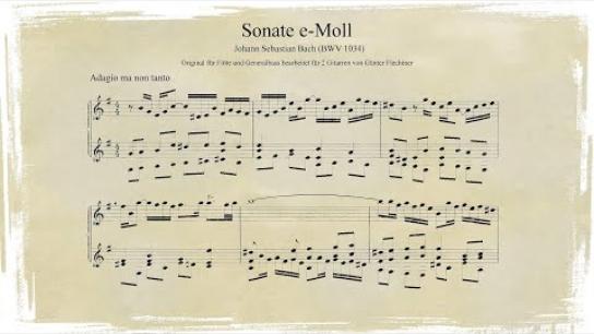 Johann Sebastian Bach: Sonate e-Moll (Flötensonate, BWV 1034)